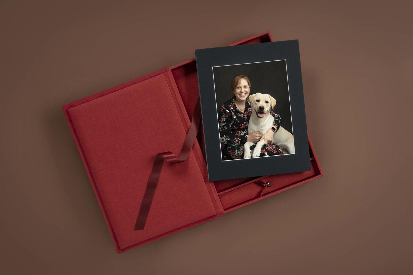prachtige koesterbox bij een portretsessie door De Huisdierfotograaf